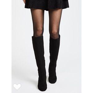 Sam Edelman knee-high boots stretch suede black